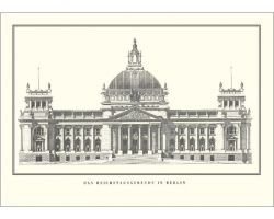 "Postcard ""The old Reichstag building"""