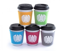 "Felt Cup Sleeve ""Eagle"""